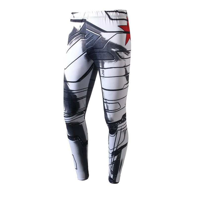 Spring Autumn Leggings Super hero Men Women 3D Comprehensive training leggings Compression Quick dry breathable ninth pants(China)