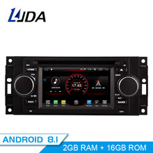 LJDA Android 8.1 autoradio Multimédia DVD GPS Pour Chrysler 300C PT Cruiser Aspen Sebring Dodge Caliber Ram Jeep Grand Cherokee