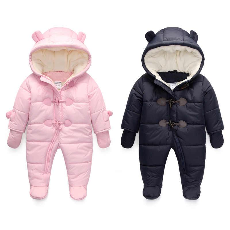 Зимняя утепленная хлопковая стеганая детская теплая хлопковая стеганая куртка мужской комбинезон зимний комбинезон для новорожденных