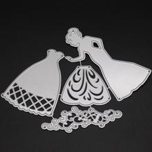 AZSG A lady Cutting Dies For DIY Scrapbooking Card Making Decorative Metal Die Cutter Decoration