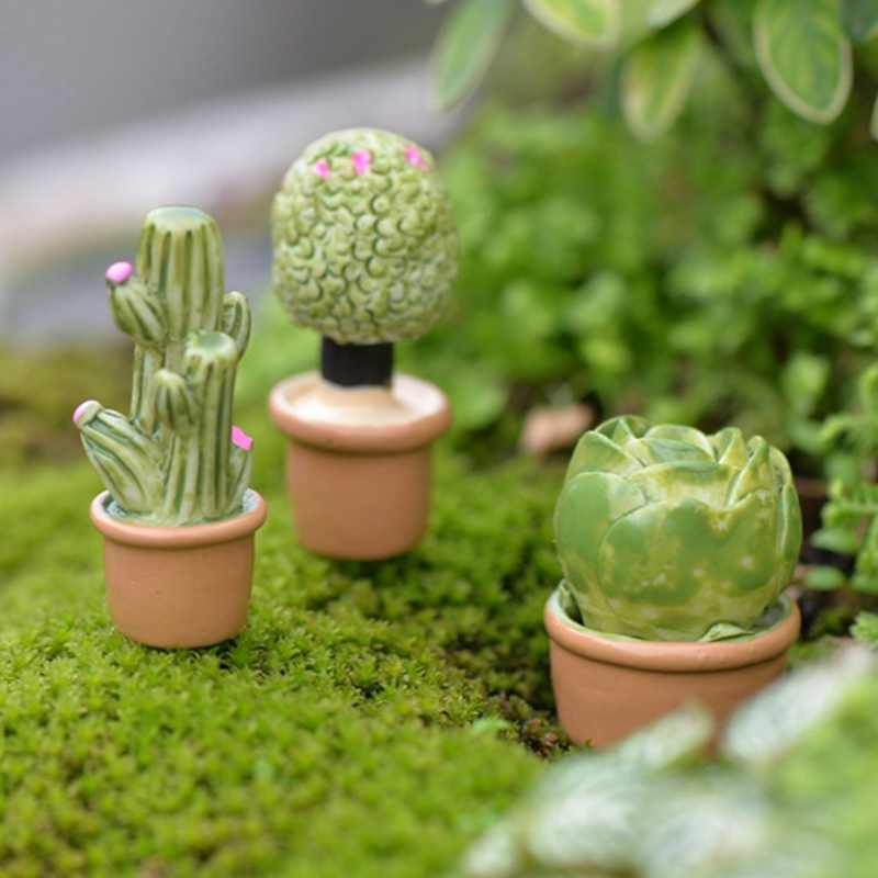 2018 new Mini Flower Trees Miniature Plants Garden Decor Fairy Home Houses Decoration Crafts DIY Accessories