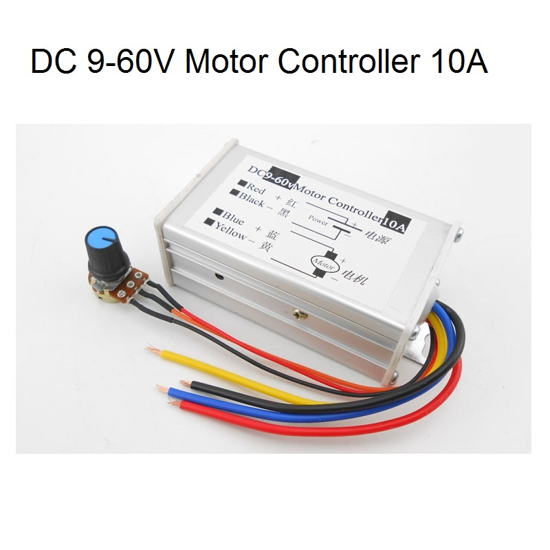 Motors & Parts Motor Controller Radient Shina 1pcs 9v-60v 10a Dc Motor Speed Regulator Pulse Width Modulator Pwm Control Switch Governor New