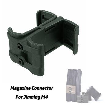 Cargador táctico doble redondo ABS paralelo MagLink acoplador abrazadera conector kit montaje para Rifle pistola para Jinming M4