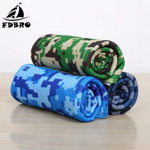 FDBRO Camouflage Printed Sports Ice Towel Quick Dry Chill Fitness Towels Cool Feeling Instant Cooling Cold Towel Sweat Absorbing(China)