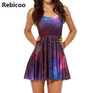 Dress Skater Dresses  Summer Dress Black Milk Galaxy Dress for Women S M L XL 4XL Plus Size babyonline dress 045g s