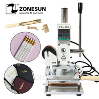 ZONESUN ZS 100B Dual Use Hot Foil Stamping Machine Manual Bronzing Machine Pvc Card Leather Pencil Paper Press Embossing Machine