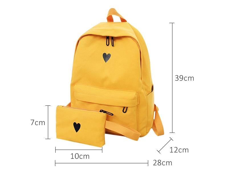 HTB1lYT9l77mBKNjSZFyq6zydFXau Moon Wood Women's Backpack Canvas Printed Heart Yellow Backpack Korean Style Students Travel Bag Girl School Bag Laptop Backpack