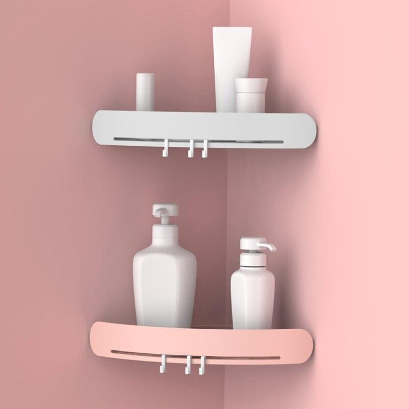 1 Pcs Bathroom Punch-Free Corner Rack Bathroom Fixtures Plastic Storage Rack Kitchen Tripod Bathroom Corner Rack Shelf