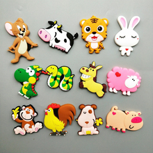 1pcs Cute Chinese Zodiac Cartoon animal fridge magnets whiteboard sticker Refrigerator Magnets Kids gift Home Decoration
