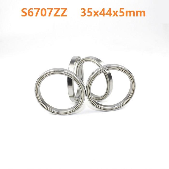 1 pièces S6707ZZ S6707 ZZ ABEC-5 en acier inoxydable portant 35*44*5mm S en acier inoxydable roulement à billes à gorge profonde 35x44x5mm