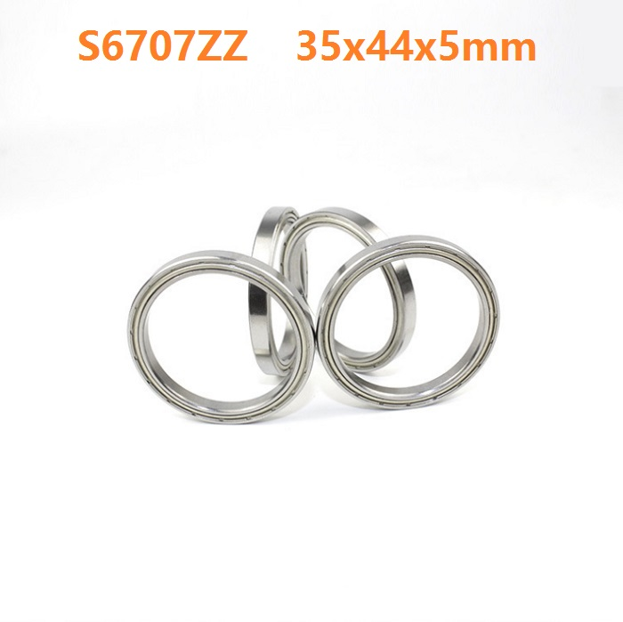 1pcs S6707ZZ S6707 ZZ ABEC-5 Stainless Steel bearing 35*44*5mm S Stainless Steel Deep Groove Ball Bearing 35x44x5mm 1pcs high quality miniature stainless steel deep groove ball bearing stainless steel 440c material smr85zz 5 8 2 5 mm