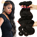 Brazilian Body Wave 3 Bundles Deals 100% Human Hair Weave Gaga Queen 7A Unprocessed Body Wave Brazilian Virgin Hair #1B Color