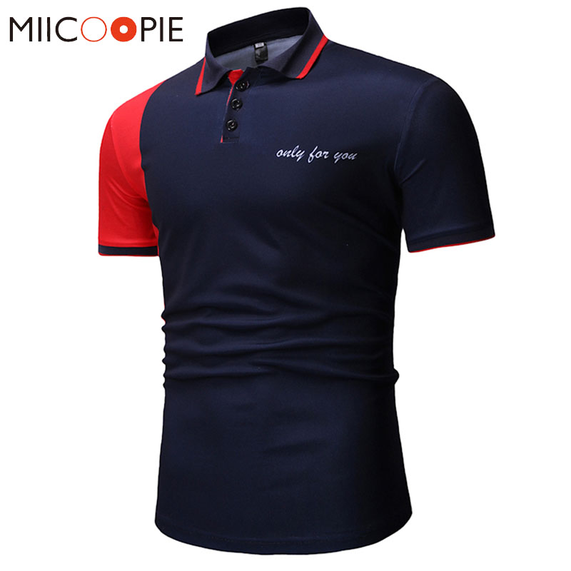 New Brand   Polos   Shirt Mens Letters Printed Short Sleeve Camisas   Polo   Casual Stand Collar Male Clothes Jerseys Golf Tennis   Polos