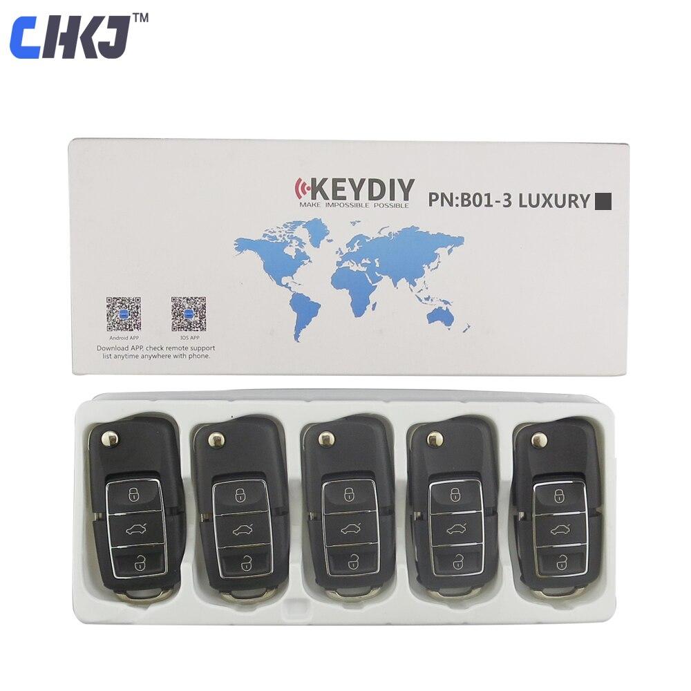 Chkj 5 pçs/lote preto b01 3 botão kd900 remoto chave para keydiy kd900 kd900 + kd200 urg200 mini kd controle remoto serralheiro suprimentos