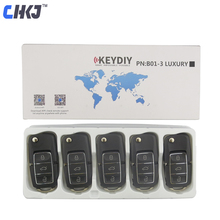 وحدة تحكم عن بعد CHKJ 5 قطع أسود B01 3 أزرار KD900 لـ KEYDIY KD900 KD900 + KD200 URG200 أدوات تحكم عن بعد صغيرة KD لوازم الأقفال