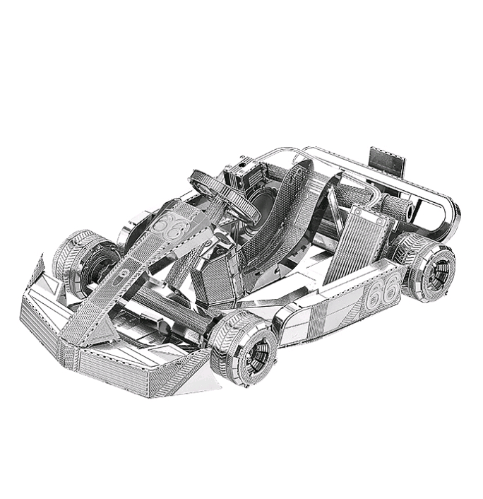 3D Metal Model Jigsaw Kart DIY Toy Kit Kit Laser Cut Puzzle Adult Children Jigsaw Education Collection Toys Gifts