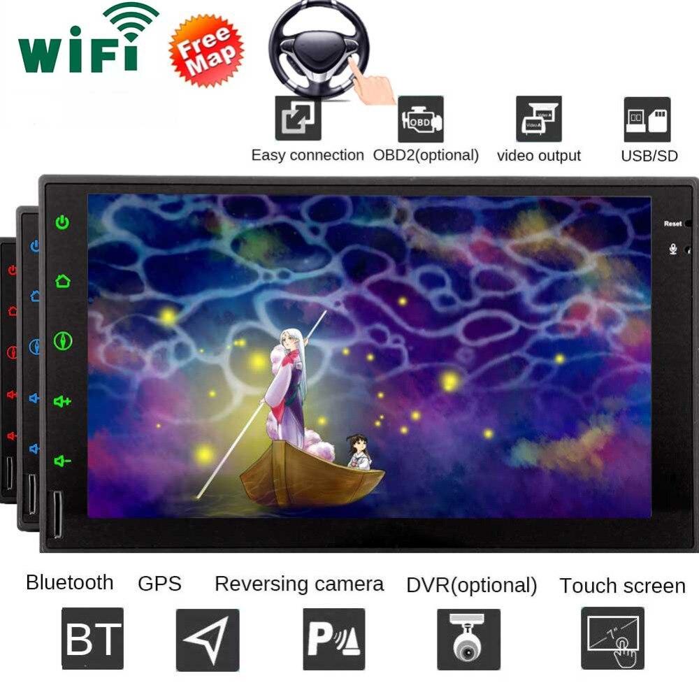 Android 7,1 аудио плеер с GPS в тире 7 дюймов Octa Core автомобильный Сенсорный экран автомагнитолы с навигацией Поддержка Bluetooth, Wi Fi 1080 P