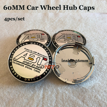 4 pçs/set ABT Logo Roda de Carro do emblema do emblema 56mm 60mm PVC centro hub caps para vw modelo de Carro-styling adesivos de Carro Jantes cobre