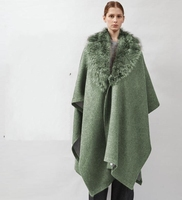 Green double sided knitting thick cashmere wool fabric dress coat ,printing super hollandais sequin design college fabric A253