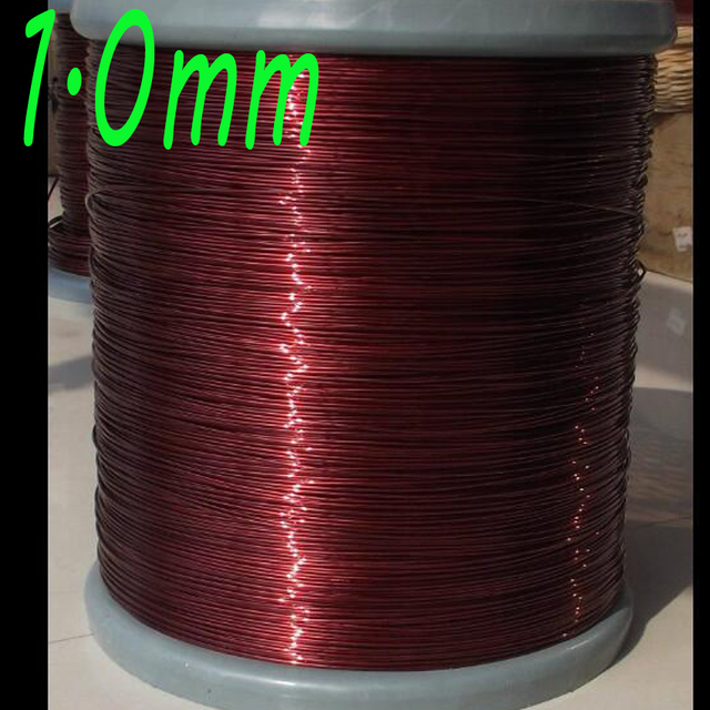 cltgxdd 1.0mm polyester enameled wire, enamelled round copper wire QZY-2-180