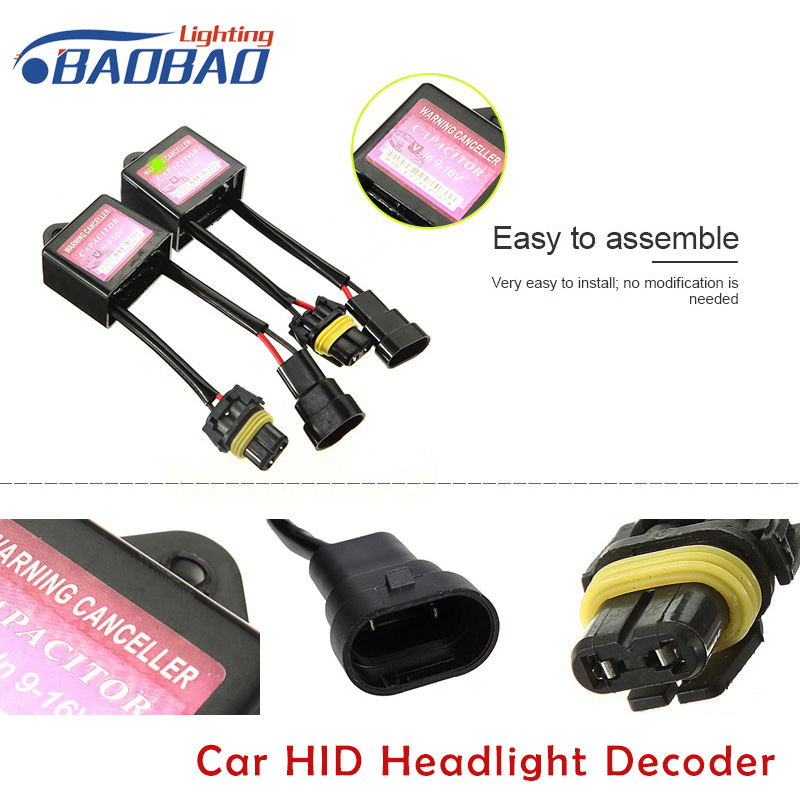 Car HID Headlight Decoder Canceller Resister Error Code Free Canbus Wiring Harness ANTI FLICKER For Xenon car styling in Car Light Accessories from Automobiles Motorcycles