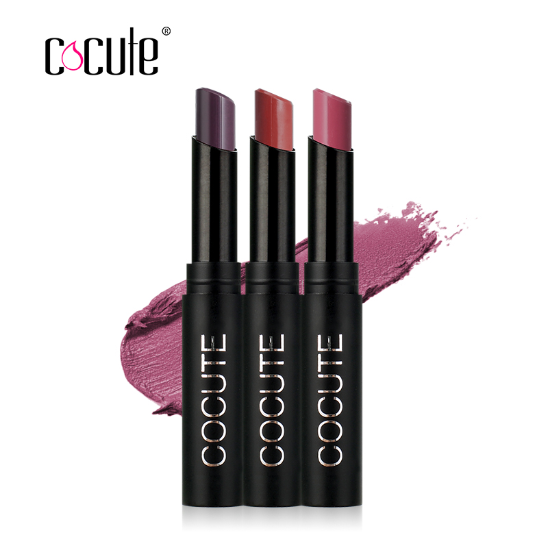 Cocute 3pcs/set Matte Lipstick Long-lasting Lips Makeup Lip Gloss Moisturizer Smooth Lip Stick Waterproof Cosmetics Makeup 50pcs lot emb20n03g mb20n03g b20n03g 20n03g 100% new free shipping