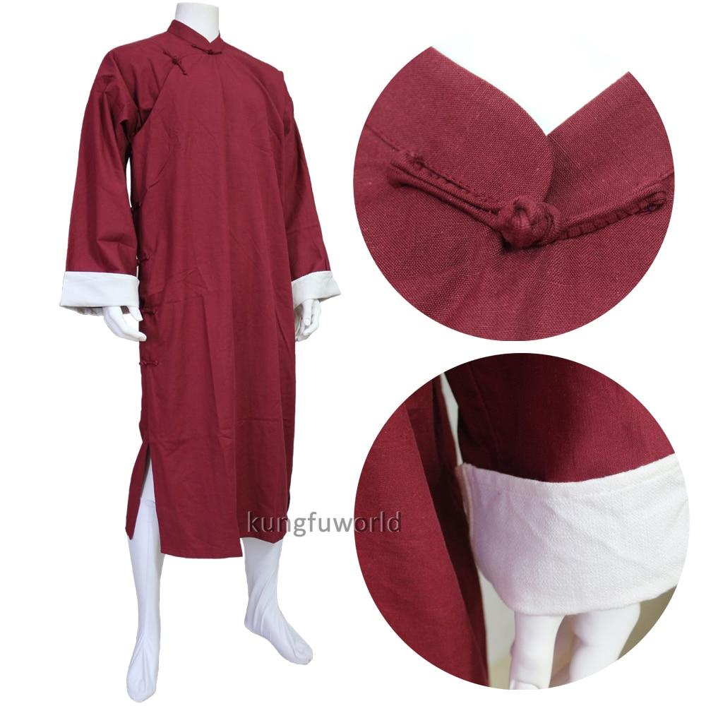 9 Colors Cotton IP Man Robe Shaolin Monk Wudang Taoist Tai chi Uniform Wing Chun Martial arts Suit high quality dark gray linen shaolin monk robe kung fu uniform tai chi suit martial arts clothes