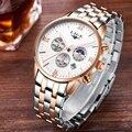 Mens Relógios Top Marca de Luxo LIGE Da Fase Da Lua Relógio de Homem de Negócios de Moda Relógios de Quartzo homens de aço completa Relogio À Prova D' Água 3ATM