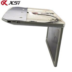 Image 3 - Xst 17.3 Polegada montagem no telhado do carro monitor flip down tft lcd player com hd 1080p vídeo usb fm hdmi sd botão de toque teto mp5 jogador