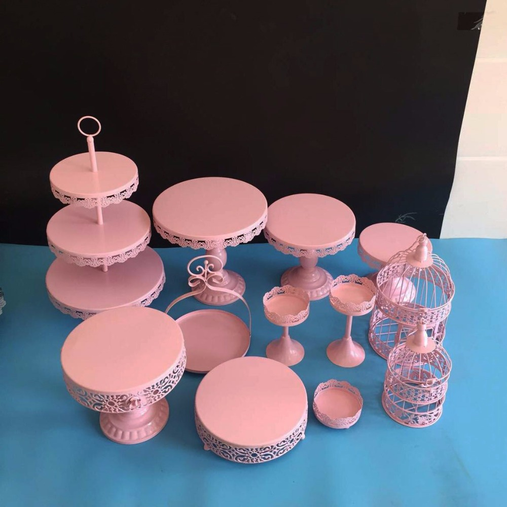 gold wedding cake stand set 12 pieces cupcake stand barware ...