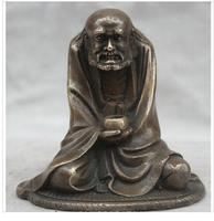decoration brass factory Pure Brass Antique Buddhism Copper Arhat Damo Bodhidharma Dharma Buddha Statue sculpture
