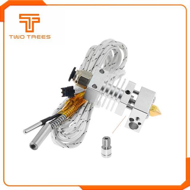 Salida Hotend extrusora de larga distancia V6 de 12V50W J-Cabeza de calor térmico romper la garganta 1,75mm para CR10 CR-10 impresoras 3D partes