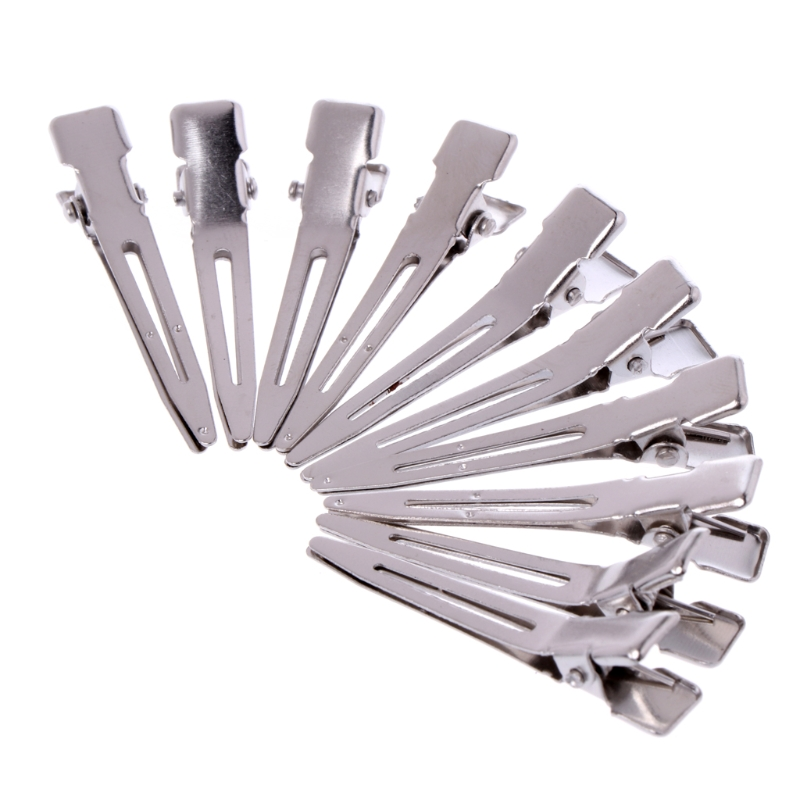 Tools & Accessories Brilliant 10 Pcs 45mm Double Prong Alligator Hair Clips Flat Metal Boutique Hairpins With No Teeth For Diy Hair Styling Accessory Hair Extensions & Wigs