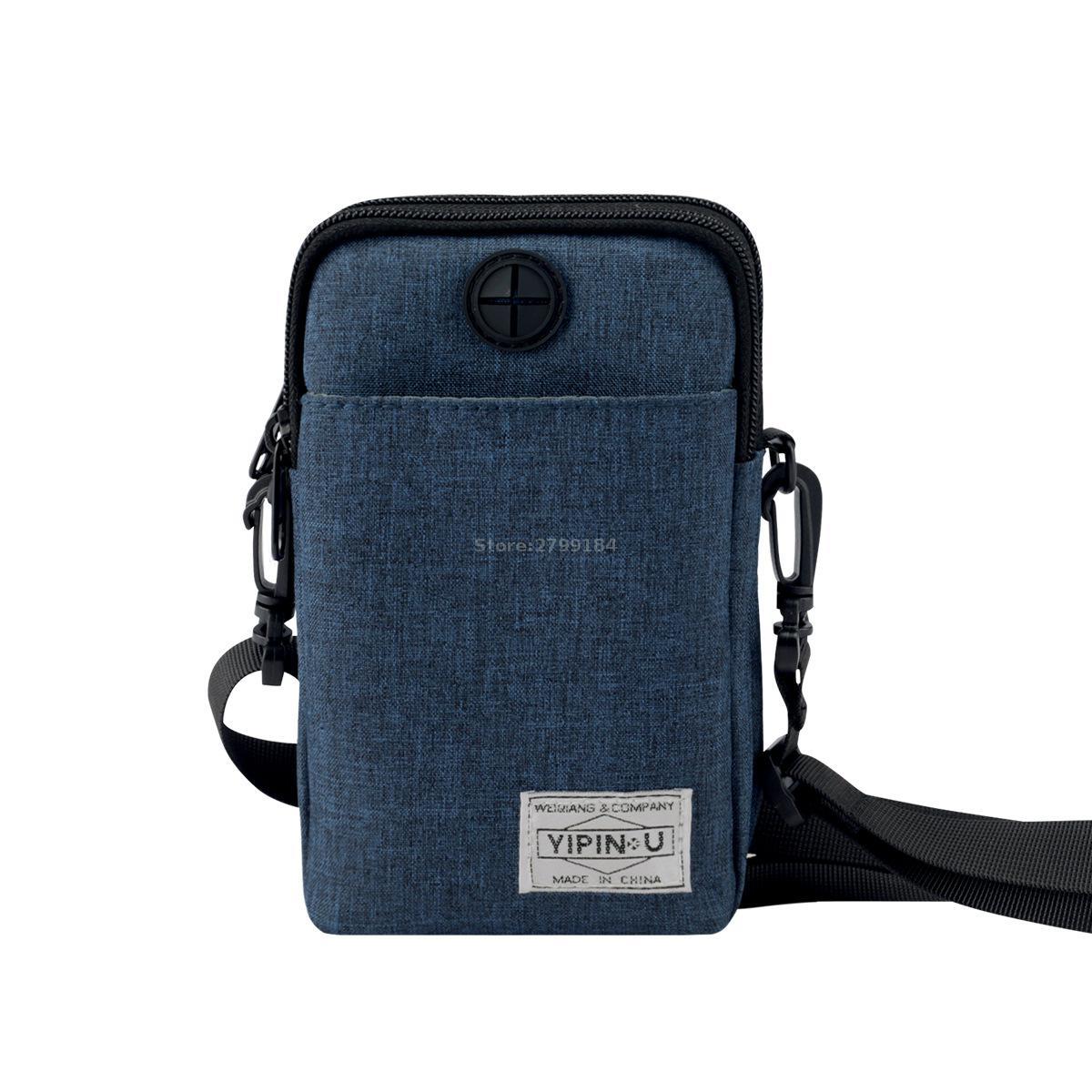 YIPINU Multifunctional Waterproof Outdoor Phone Bag Anti-theft Security Sport Mini Bag Wallet ID Holder Passport Holder Neck Bag