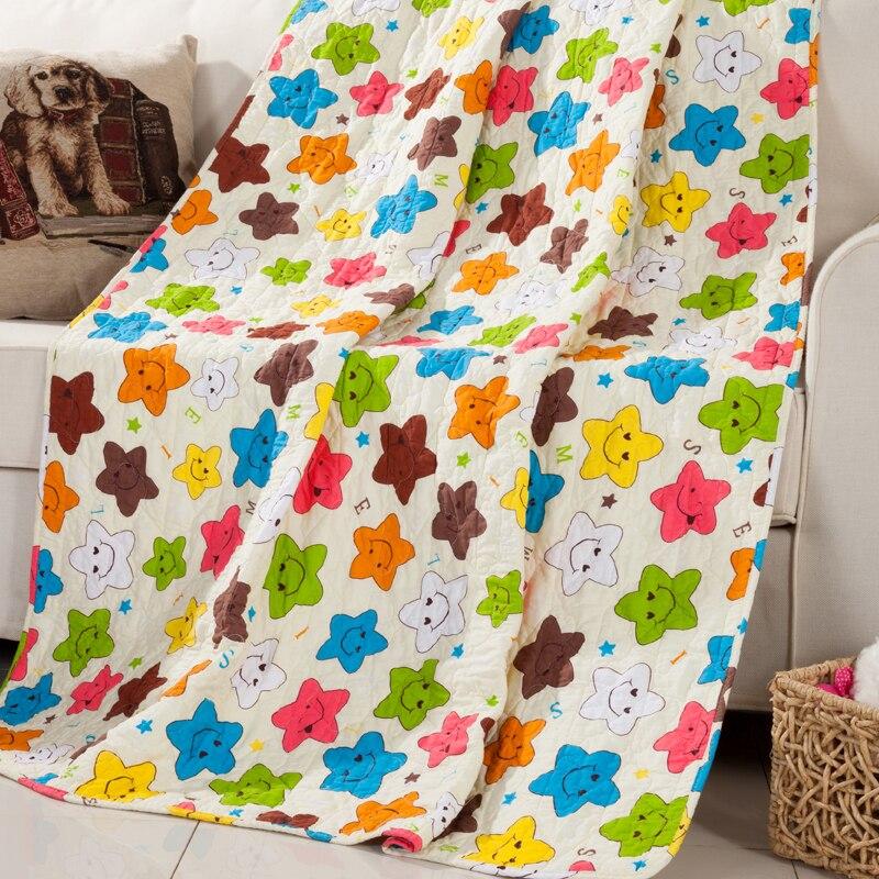 MILAIYA ребенка летние одеяла из чистого хлопка стеганые одеяла мультфильм кровати для детей высокого качества плотность cholcha саржа