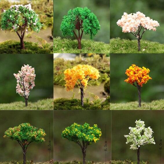 Great 3Pcs/ Artificial Tree Yellow/miniatures/cute Plants/fairy Garden Gnome/moss