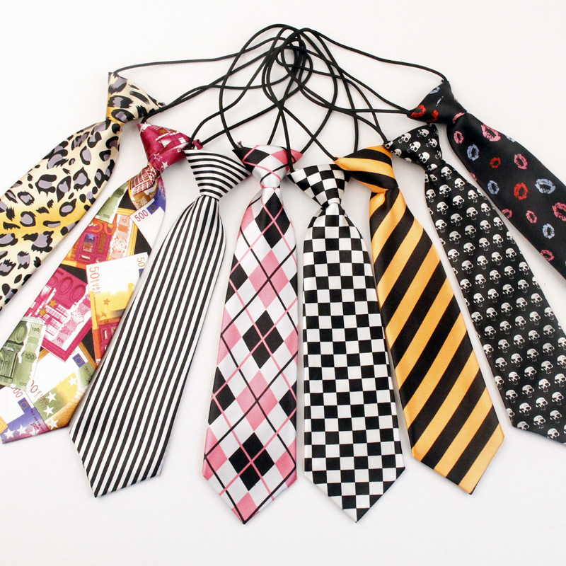 TagerWilen Korean Casual Neck Tie For Children Boy Stripes/Plaid/ Skull/ Animal/Dot/Cartoon Pattern For Party Ties  T-250
