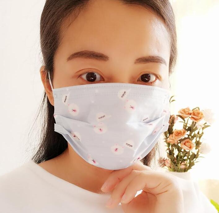 Women's Spring Summer Thin Non-woven Fabric Disposable Mask Girls PM 2.5 Breathable Sunscreen Mouth-muffle 10 Pieces/lot R666
