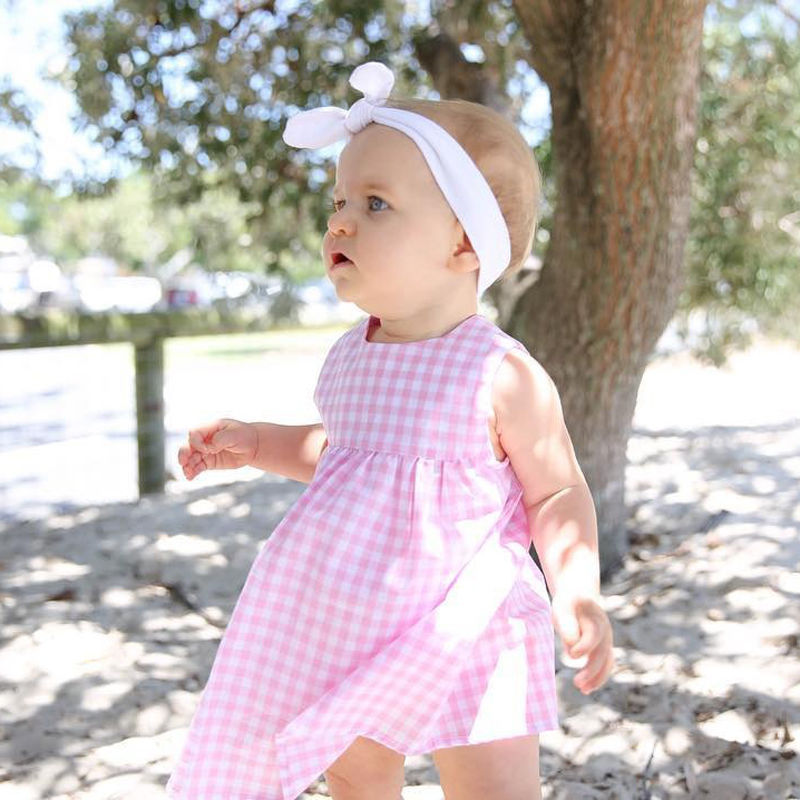 Summer-Princss-Newborn-Baby-Girls-Casual-Sweet-Dress-Sleeveless-Pink-Checked-Dresses-New-Fashion-0-24M-4