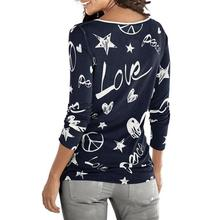 Feitong Fashion Autumn Women's T Shirts Casual Long Sleeve Letter Printed Loose Cotton Tops Tee Shirt femme camisetas mujer 2018