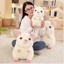 WYZHY down cotton cute pig pillow plush toy sofa decoration to send friends and children gifts 40CM