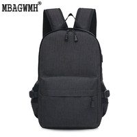 Brand Canvas Men Women Backpack College High Middle School Bags For Teenager Girls Laptop Travel Anti