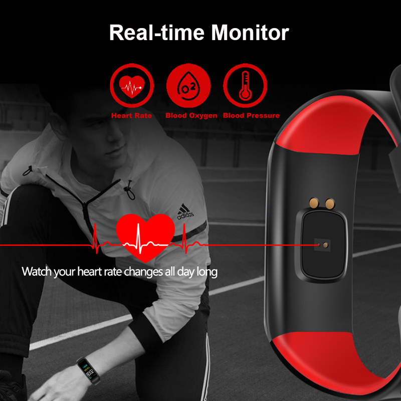 M5plus Smart Wristband Waterproof Ultra long Sport Bracelet Blood Pressure Watch Fitness Tracker Pedometer Calorie Color Screen in Smart Wristbands from Consumer Electronics