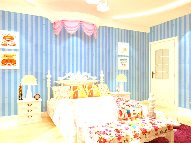 0 45x10 Meter Bedroom Living Room Waterproof Self Adhesive Wallpaper Tv Backdrop Idyllic Children