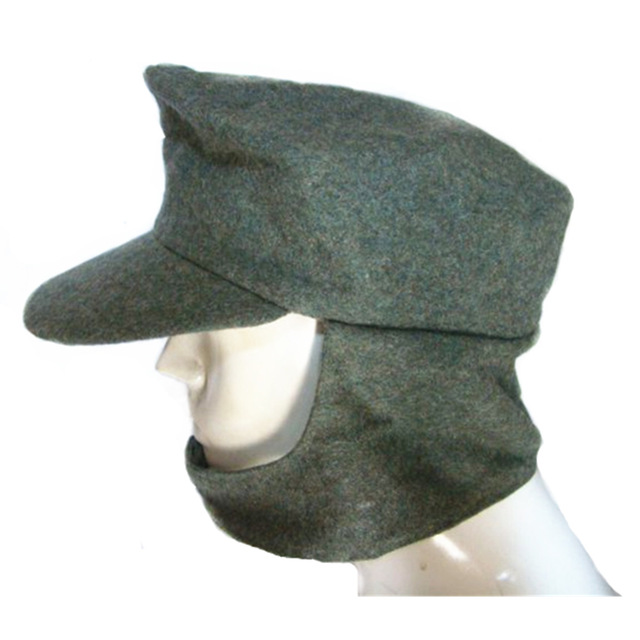 Collectable M43 WWII cap hat German Elite Military ARMY Field Hat Wool Cap  green grey 2ef8bc2596b8