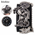 Irisshine #089 reloj unisex del regalo del amor de pareja marca Punky Ocasional Rock Band Mujeres Hombres Pulsera para el Brazo de la Muñeca Gótica Del Cráneo de La Cadena reloj