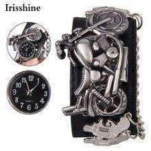 Irisshine #089 unisex watch love gift couple brand Casual Punk Rock Chain Skull Band Women Men Bracelet Cuff Gothic Wrist Watch