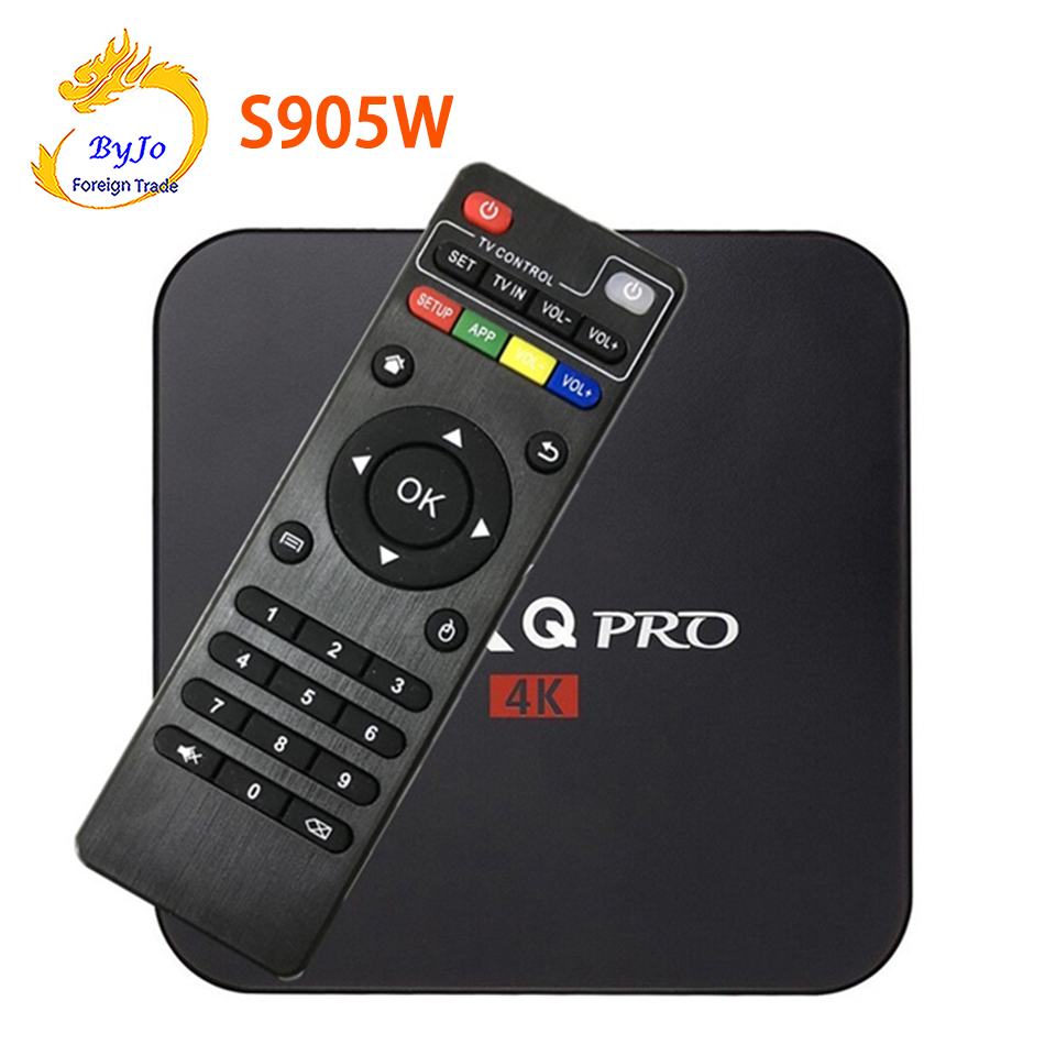 MX Pro 4 K TV Box Amlogic S905W Quad Core 1G 8G Android 7.1 Ultra 4 K Streaming KODI 17.4 entièrement Charge KODI boîte Tv box MXQ Pro