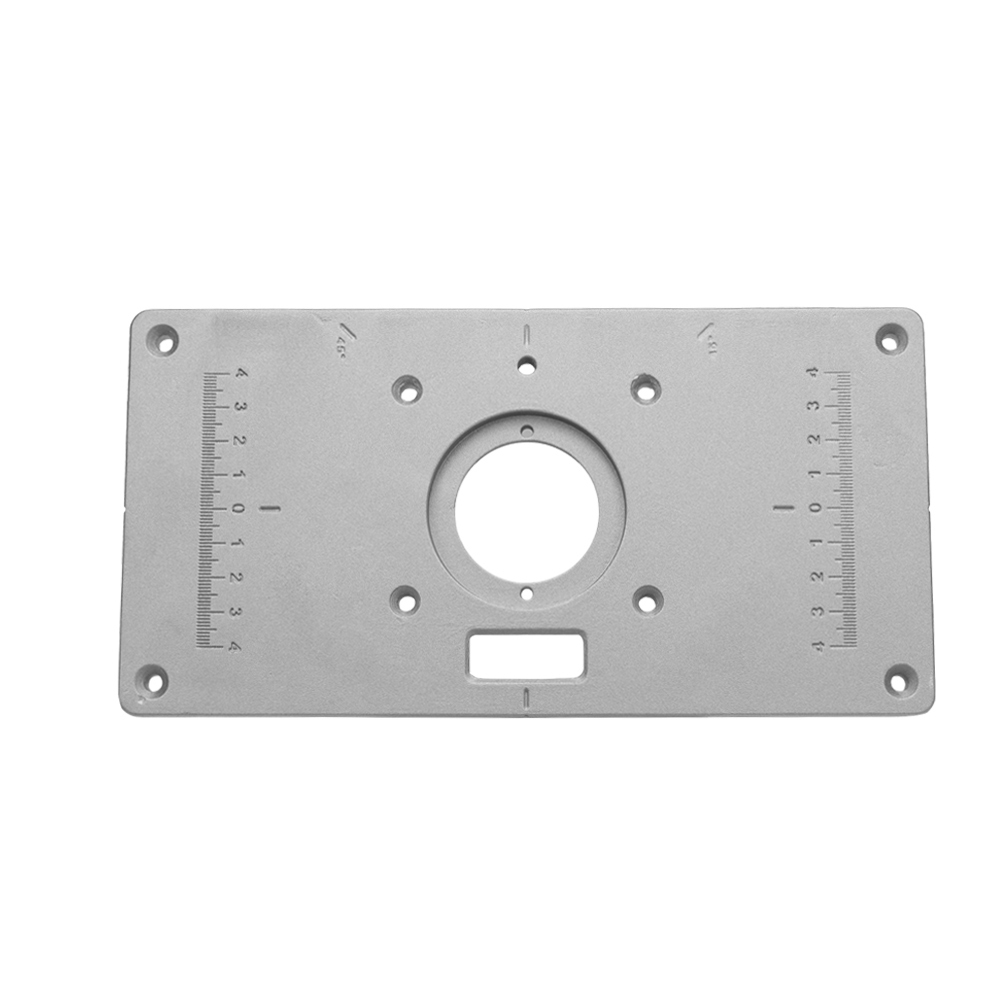 Multifunctional Router Table Insert Plate Woodworking Benches Trimmer Models Engraving Machine With 4 Rings Tools