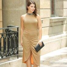 3a43a8da961 Большой размер сексуальное элегантное вязаное платье очень большое толстое  асимметричное женское платье(China)